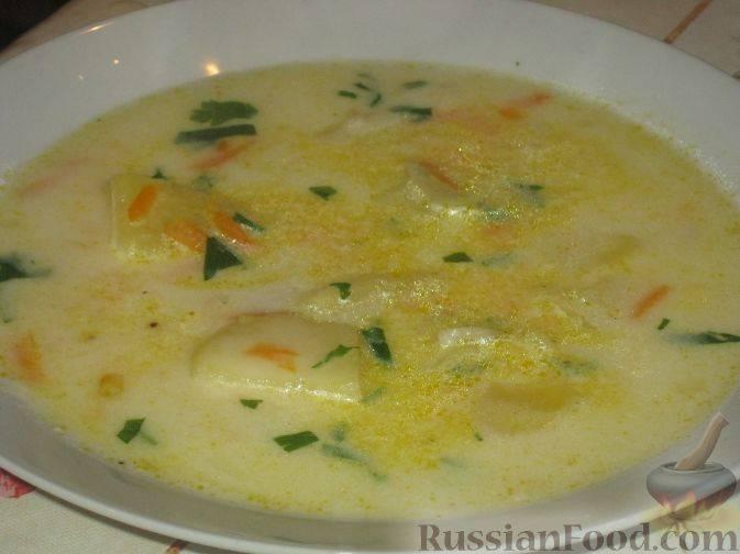 Сырный суп из плавленных сырков