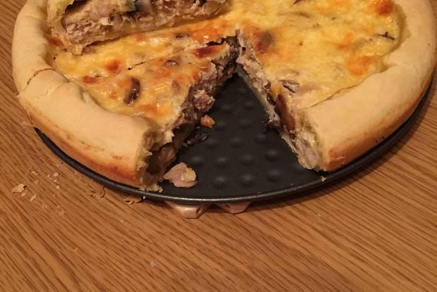 Лоранский пирог с овощами и грибами