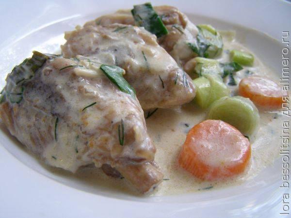 Филе грудки в сливках на сковороде (рецепт с фото) | foodkrot.ru