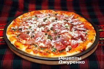 Пицца с курицей и моцареллой: рецепт и фото
