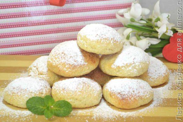 Печенье из творожного дрожжевого теста
