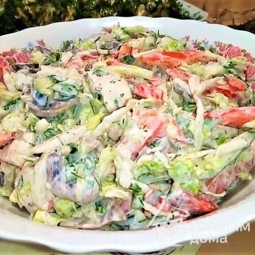 Салат с пекинской капустой и сладким перцем - 7 пошаговых фото в рецепте