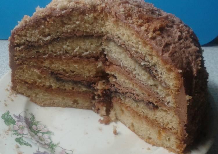 Домашний торт «наполеон» из песочного теста на майонезе