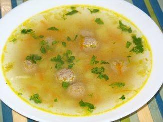Суп с фрикадельками, рисом и картошкой - 10 пошаговых фото в рецепте