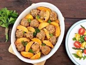 Картошка с биточками - вкусное блюдо для всей семьи!