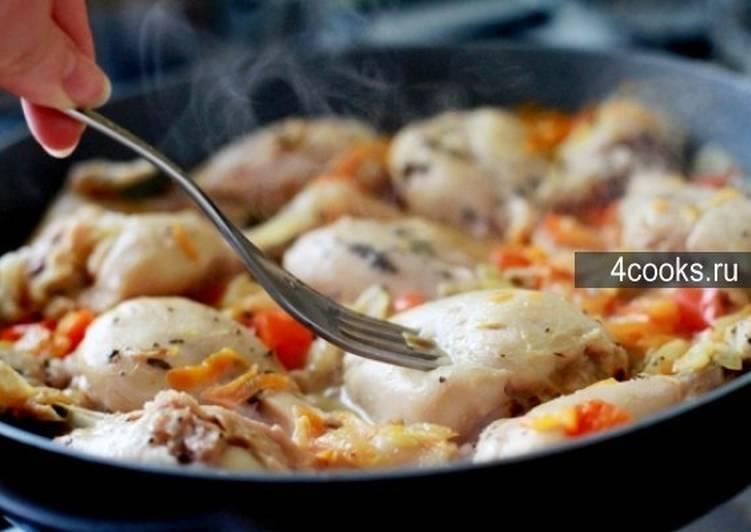 Куриные голени, запеченные с овощами - 7 пошаговых фото в рецепте