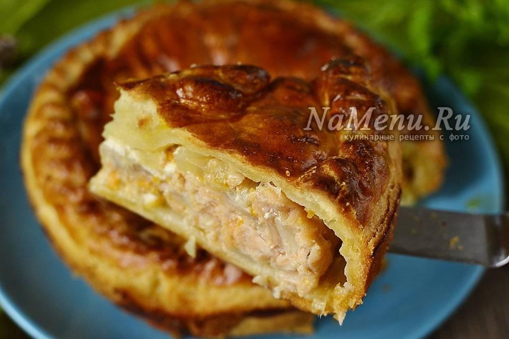 Курник из блинов с курицей и грибами классический рецепт приготовления