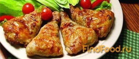 Фаршированные куриные голени с золотистым рисом