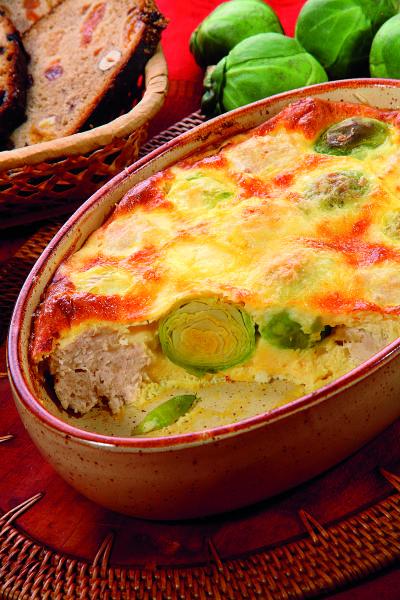 Брюссельская капуста с сырным соусом