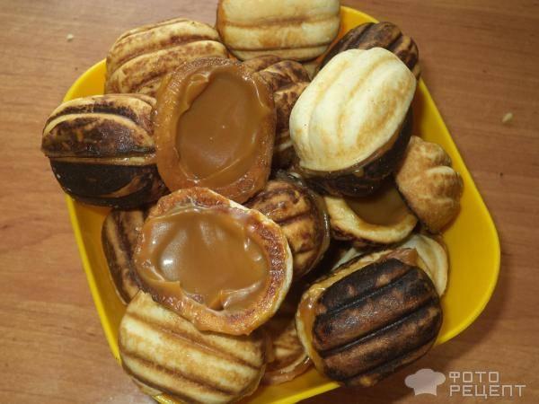 Печенье «орешки» со сгущёнкой
