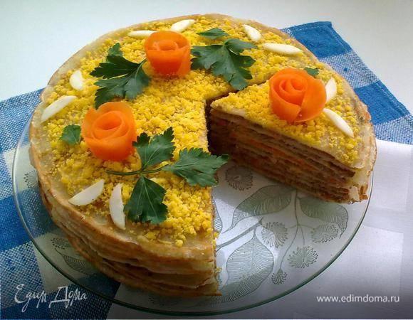 Печеночный торт - лучшие рецепты вкусной и красивой закуски