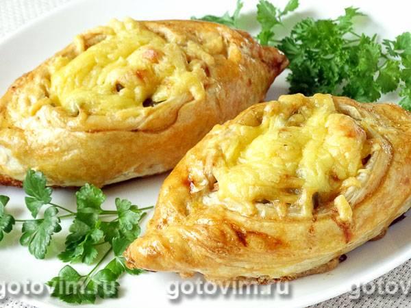 Картофельные лодочки с мясом и грибами