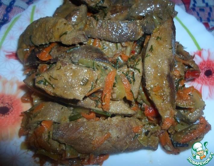 Печень с овощами: калорийность рецепты приготовления с фото