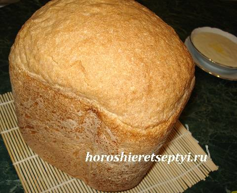 Хлеб пшеничный цельнозерновой на сыворотке