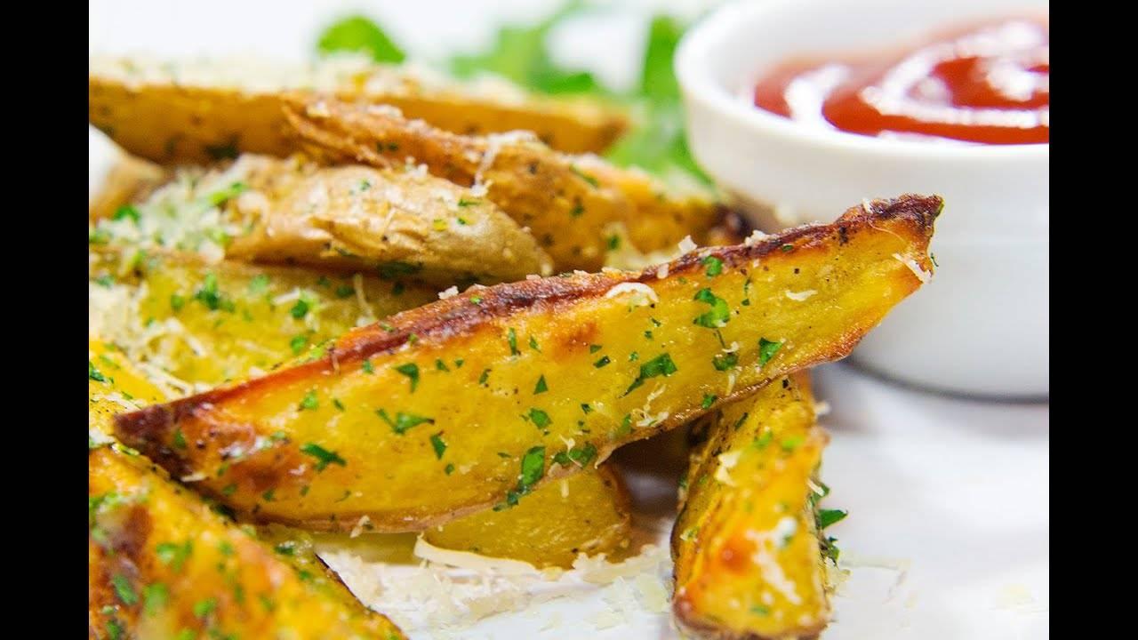 Хрустящая картошка в духовке с чесноком
