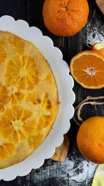 Пирог с мандаринами - лучшие рецепты выпечки в духовке или в мультиварке