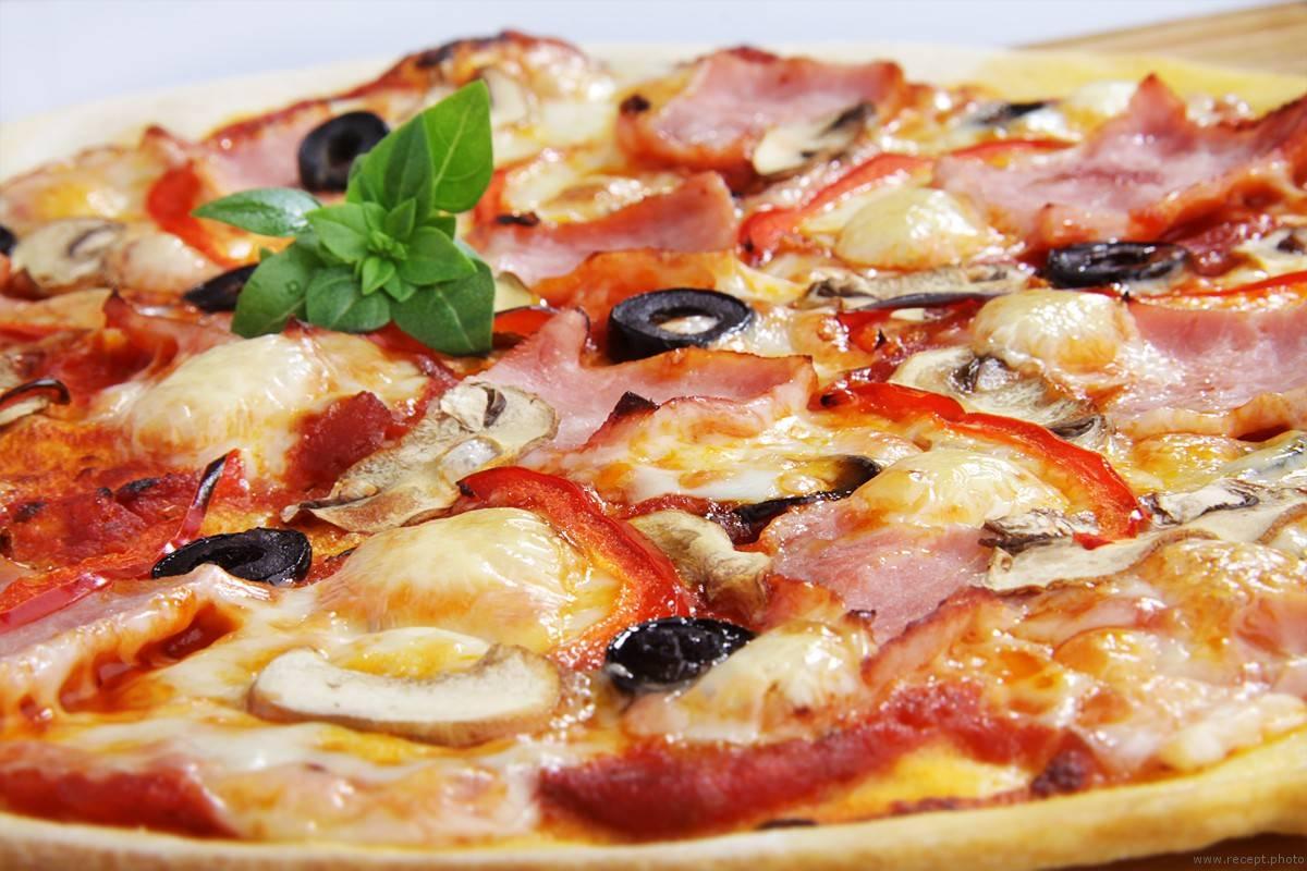 Пицца с оливками, помидорами и зеленым луком - рецепты джуренко
