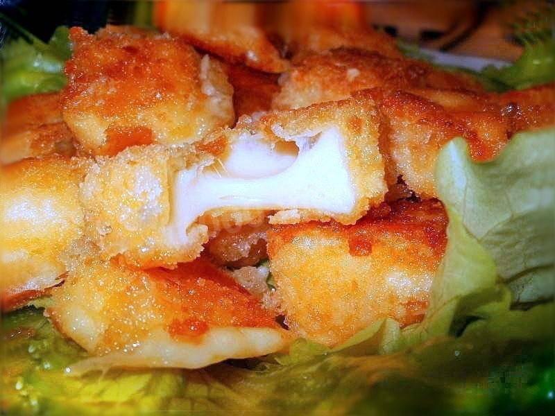 Жареный сыр в панировке рецепт с фото