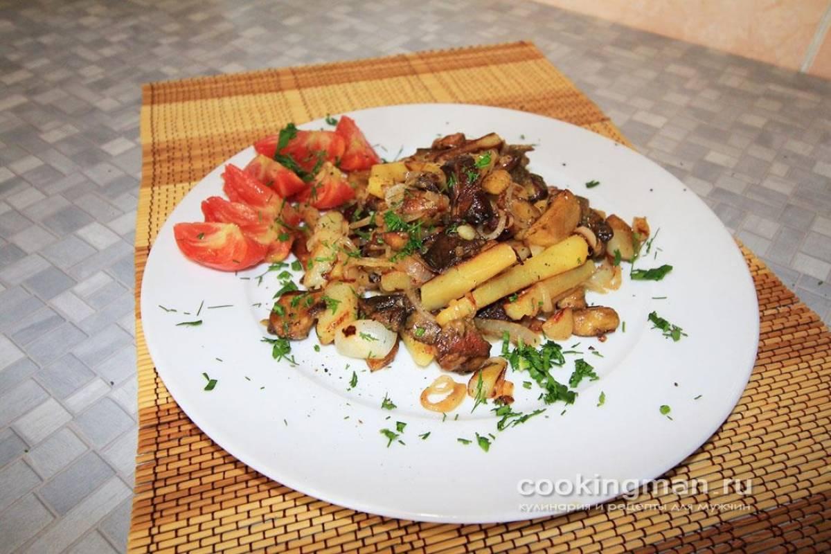 Картошка с грибами на сковороде - 85 домашних вкусных рецептов приготовления