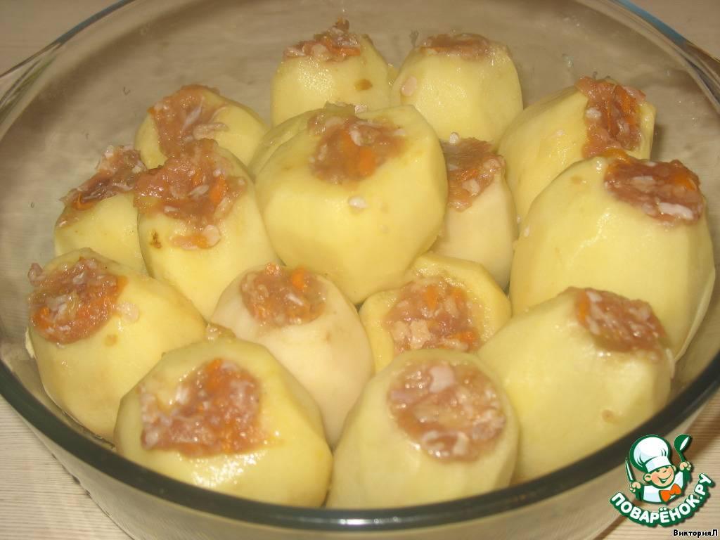 Фаршированный картофель в духовке рецепты с фото