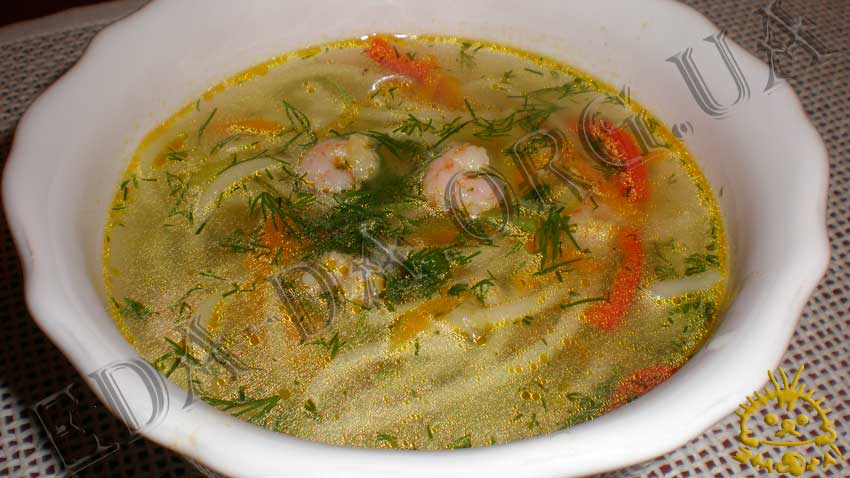Суп с куриными крылышками