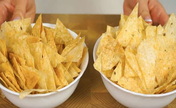 Хрустящие чипсы из лаваша с сыром