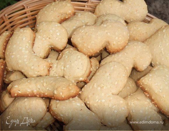 Пошаговый рецепт приготовления кунжутного печенья