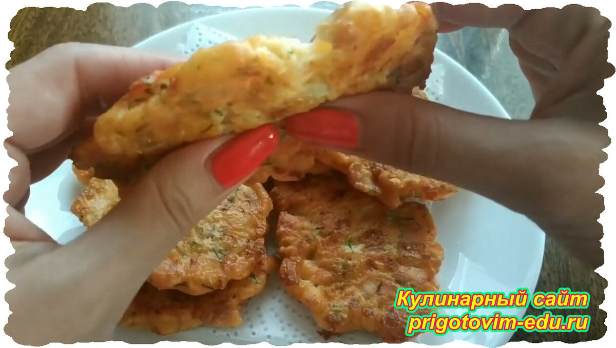 Быстрые сырные лепёшки с колбасой