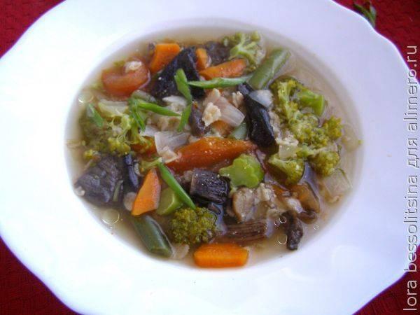Идеально сбалансированный диетический суп из сушеных грибов