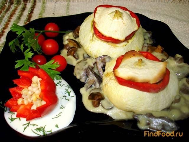 Фаршированные патиссоны вегетарианские