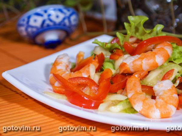 Салаты из морепродуктов - рецепты