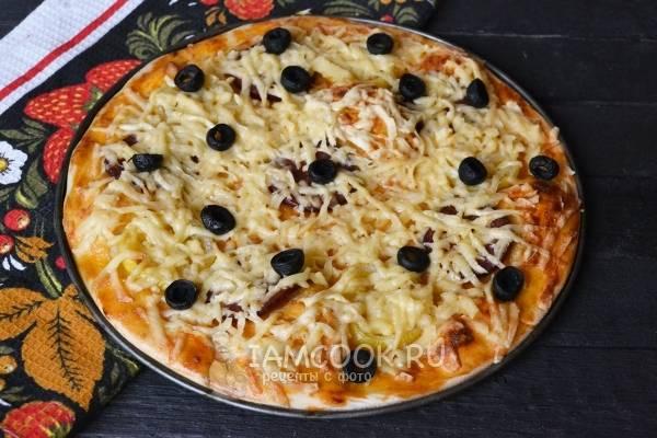 Быстрая грибная пицца на сковороде - супер бюджетный рецепт