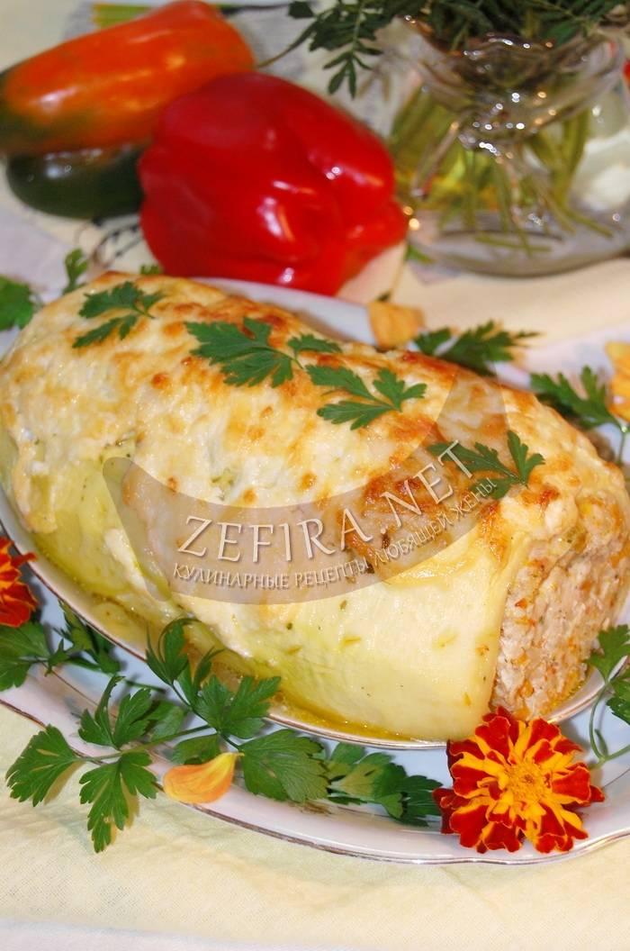 Лодочки из кабачков фаршированные - пошаговые рецепты приготовления в духовке