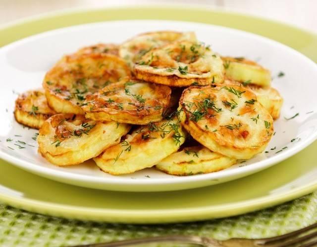 Патиссоны жареные на сковороде быстро и вкусно