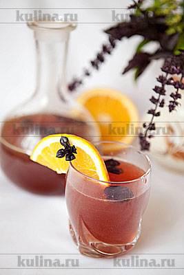 Апельсиновый лимонад с базиликом