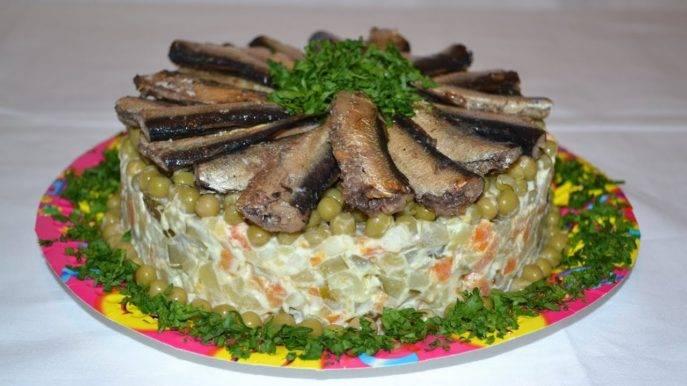 Салат со шпротами - 13 домашних вкусных рецептов приготовления