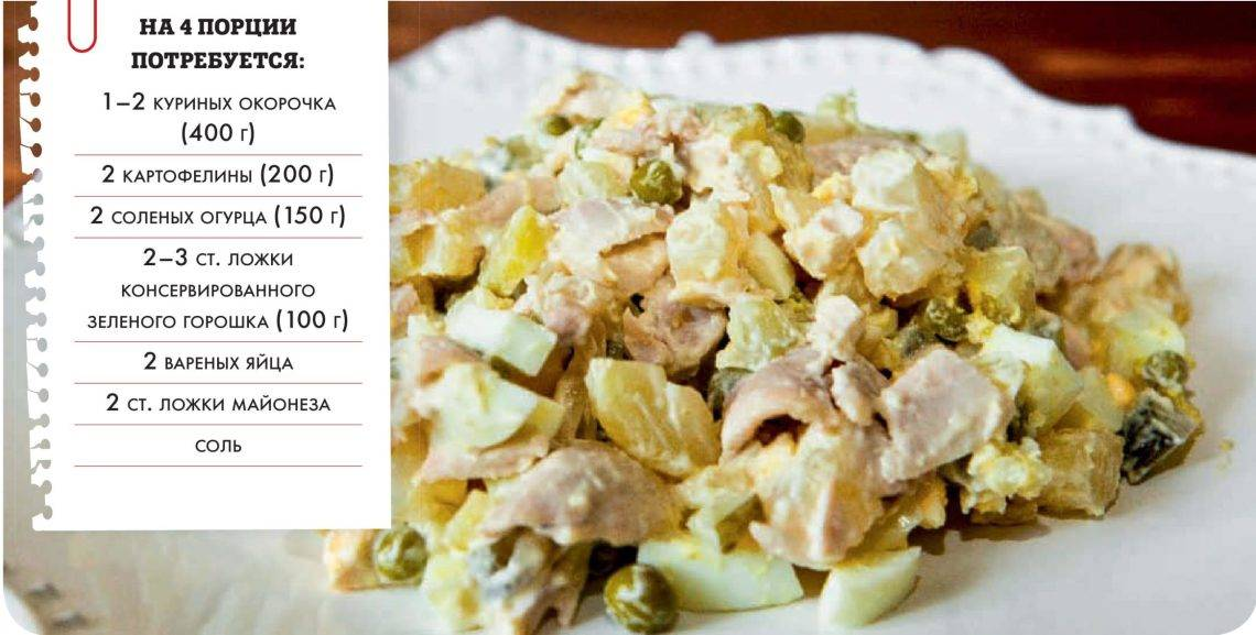 Рецепт: классический салат винегрет с горошком | первый вегетарианский