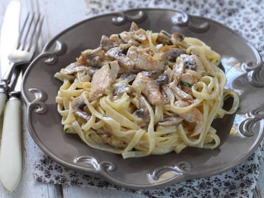 Паста с белыми грибами, сливками и томатами черри - рецепты джуренко