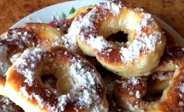 Пончики в сахарной пудре. | страна мастеров