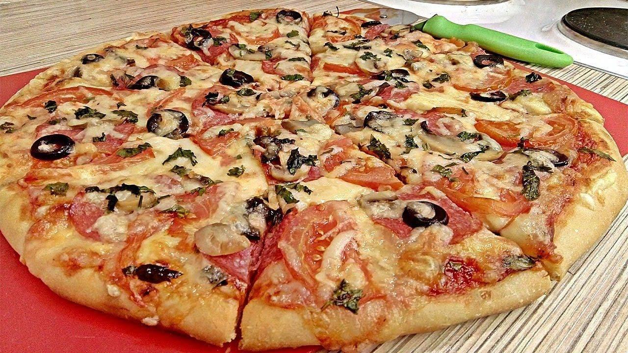 Пицца с курицей и грибами – рецепт в домашних условиях
