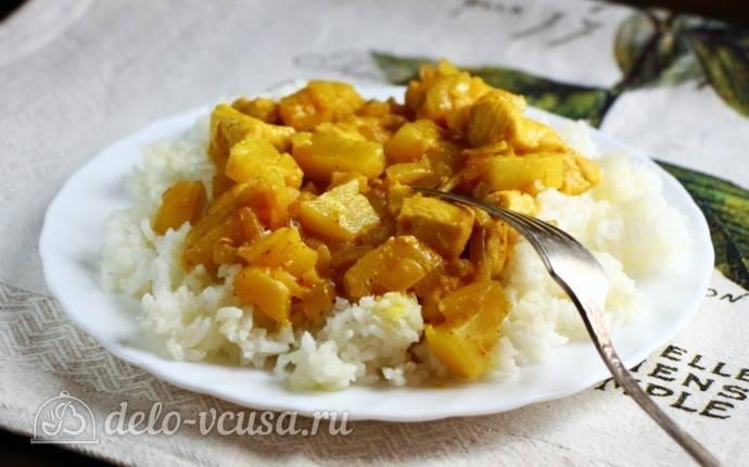 Индейка карри с ананасами: быстро и вкусно
