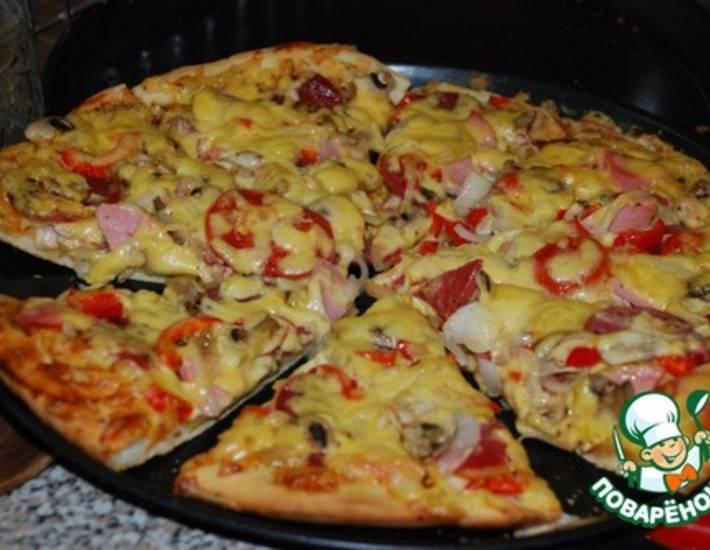 Пицца с курицей в домашних условиях