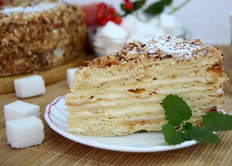 "Торт ""наполеон"" с кремом ""пломбир"""