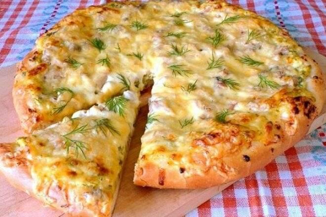 Пицца с картофелем и чесноком