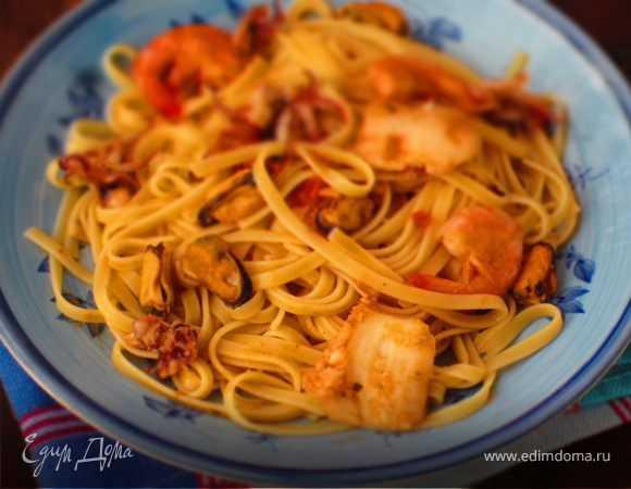 Пошаговый рецепт приготовления пасты с морепродуктами