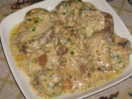 Колбаса с куриной печенью и гречкой