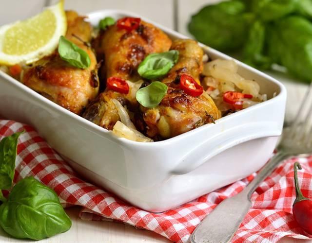 Сочная куриная грудка-гриль с марокканским салатом