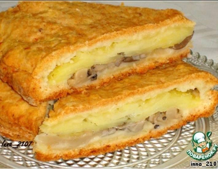 Пирог с белыми грибами и картофелем