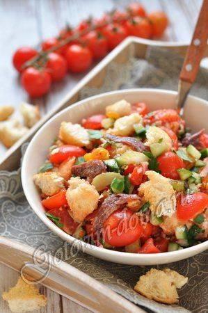Панцанелла - тосканский салат - рецепты джуренко