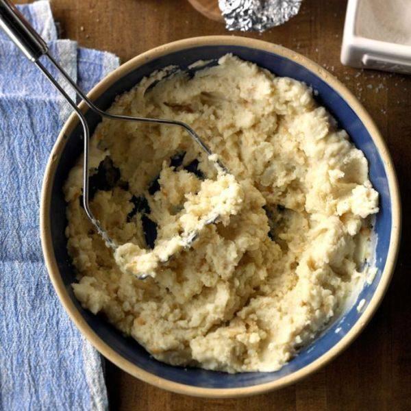 Картофельное пюре с чесноком по-техасски